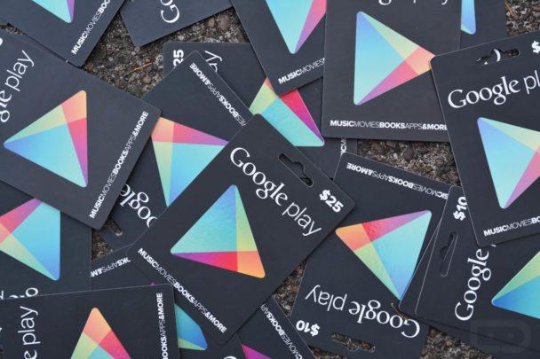 خرید گیفت کارت گوگلپلی