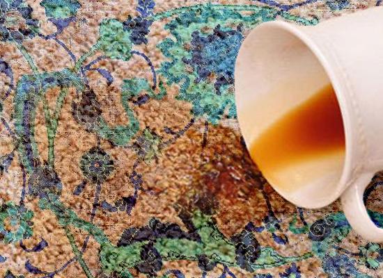 پاک کردن لکه ها چای از روی فرش