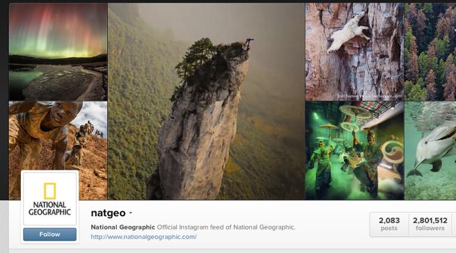 National Geographic اکانت اینستاگرام معروف