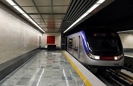 مترو در حال راه اندازی