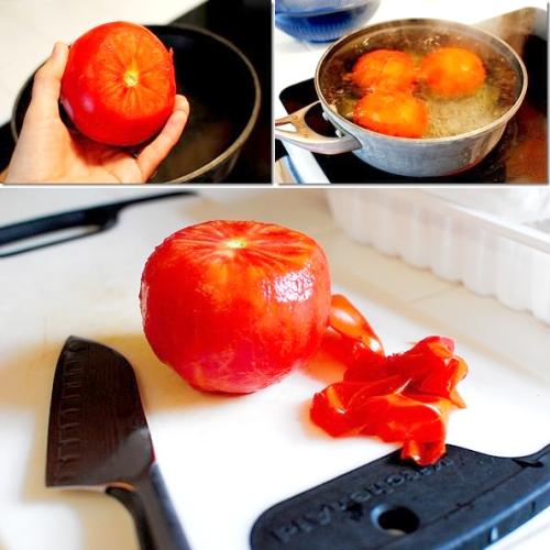 پوست کندن گوجه فرنگی با آبجوش