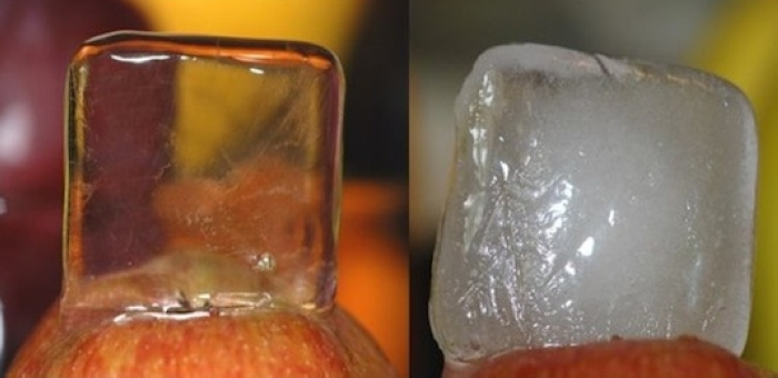 تهیه یخ شفاف و زیبا برای مهمانی