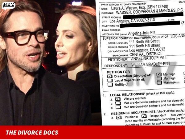 دلایل طلاق آنجلینا جولی و برد پیت