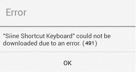خطاهای گوگل پلی