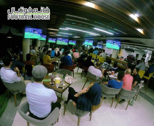 کافه خانه فوتبال بهترین کافه برای تماشای فوتبال