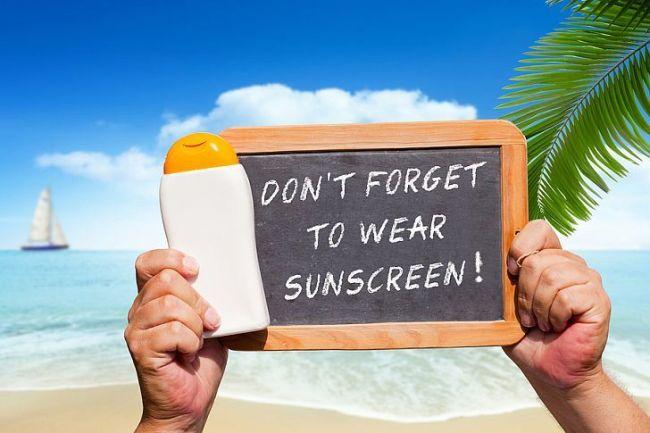 استفاده از کرم ضد آفتاب