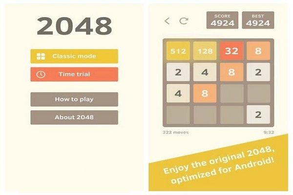 بهترین بازی فکری اندرویدی 2048