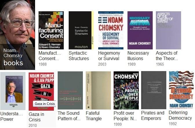 نوآم چامسکی نویسنده موفق در دنیا