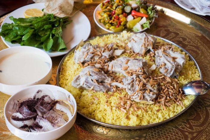 غذای بومی اردن ( Mansaf)