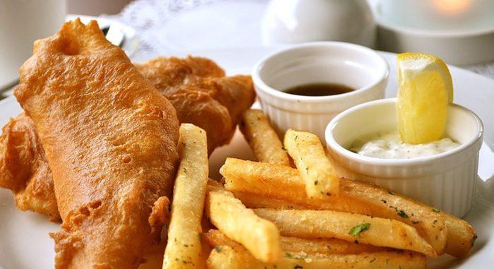ماهی و سیبزمینی سرخکرده (چیپس) در انگلستان