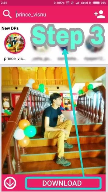 آموزش ذخیره کردن عکس پروفایل اینستاگرام