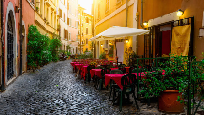 trasterevere مکانی زیبا با رستوران های شیک