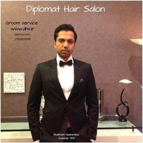 آرایشگاه داماد دیپلمات یکی از شیک ترین آرایشگاه های مردانه در تهران