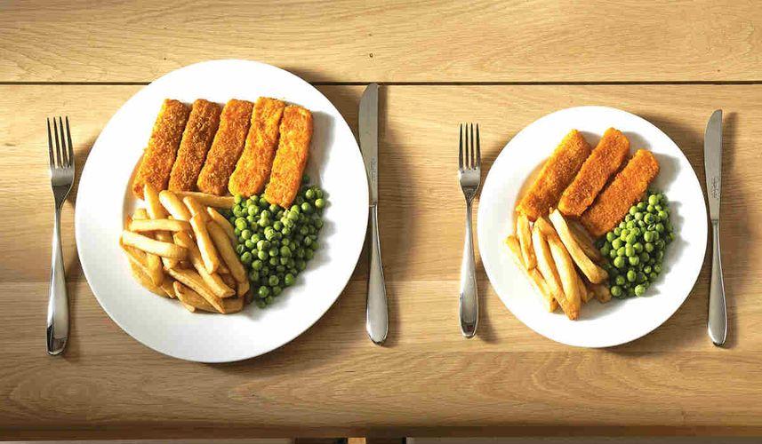 تاثیر غذا خوردن در ظروف کوچک در کاهش وزن
