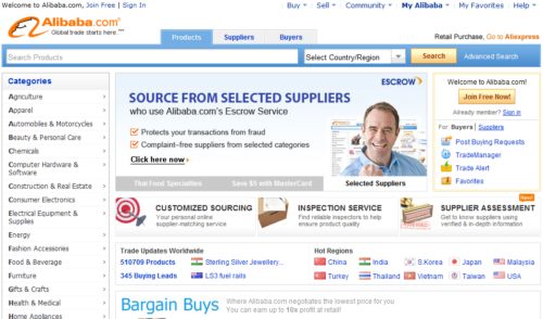 Alibaba بهترین فروشگاه اینترنتی تخصصی در تجارت
