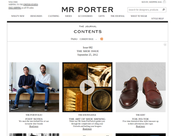 Mr Porter فروشگاهی خاص و جذاب برای پوشاک مردانه