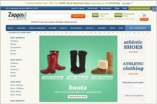 Zappos برترین فروشگاه اینترنتی در حوزه کفش و لباس