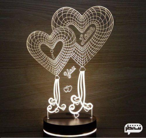 چراغ خواب عاشقانه با عکس دو نفره