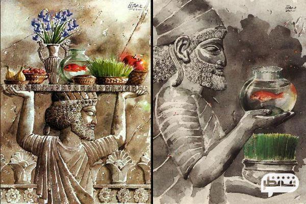 سفره هفت سین و ساعت تحویل سال در عید نوروز
