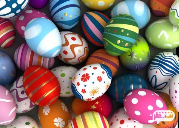 تخم مرغ رنگ کردن برای جشن نوروز