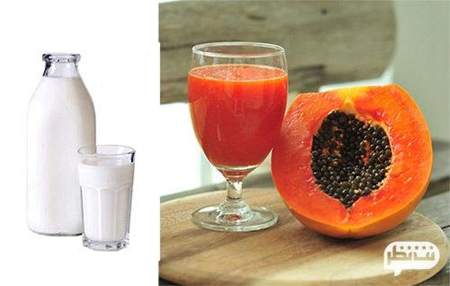 نوشیدن روزانه آب پاپایا یا شیر