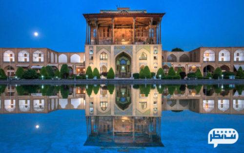 کاخ عالی قاپو از زیباترین شاهکارهای معماری