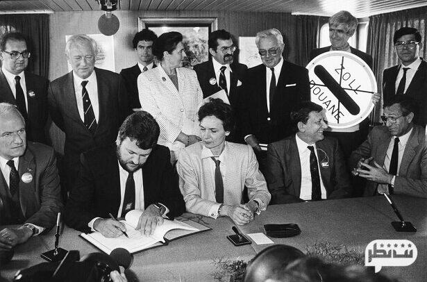 امضای معاهده بین کشورهای عضو شینگن