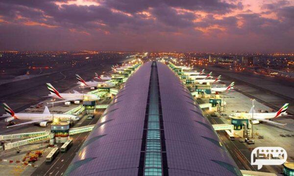 شلوغ ترین و زیباترین فرودگاه بینالمللی دبی در امارات متحده عربی