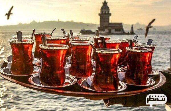 چای و استکان از معروف ترین و بهترین سوغات ترکیه