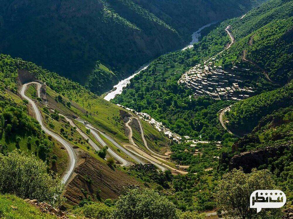 جاده هجیج به اورامان یکی از زیباترین جاده های ایران