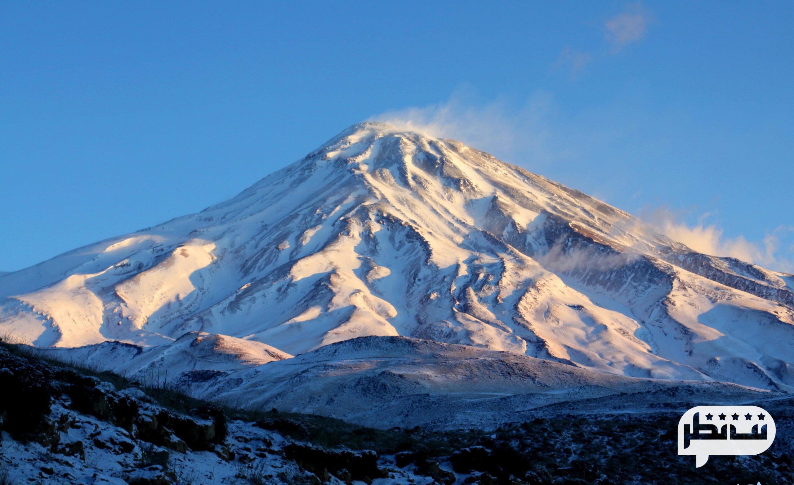 قله دماوند از کوه های فنی ایران