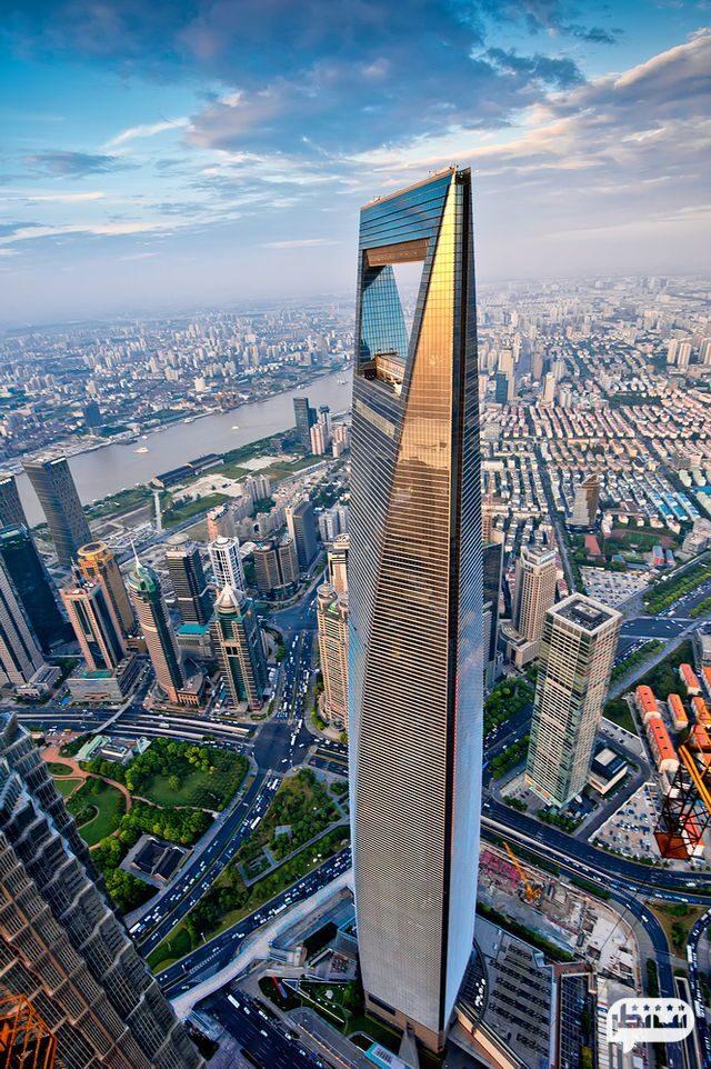 مرکز مالی جهانی شانگهای، چین یکی دیگر از بلندترین برج های جهان